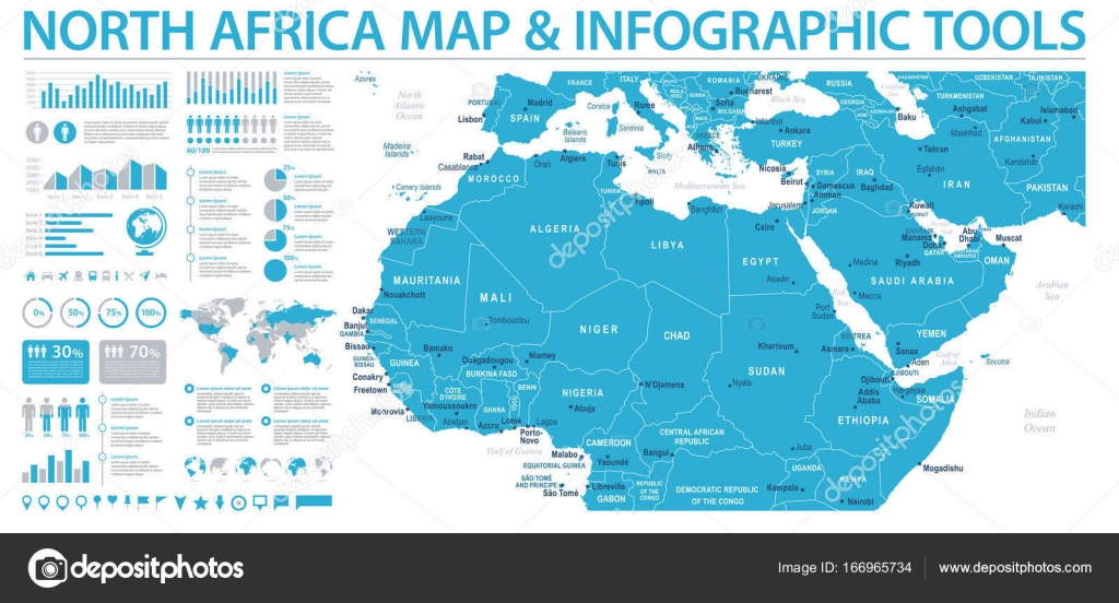 North africa map info graphic vector illustration stock vector north africa map info graphic vector illustration stock vector gumiabroncs Images