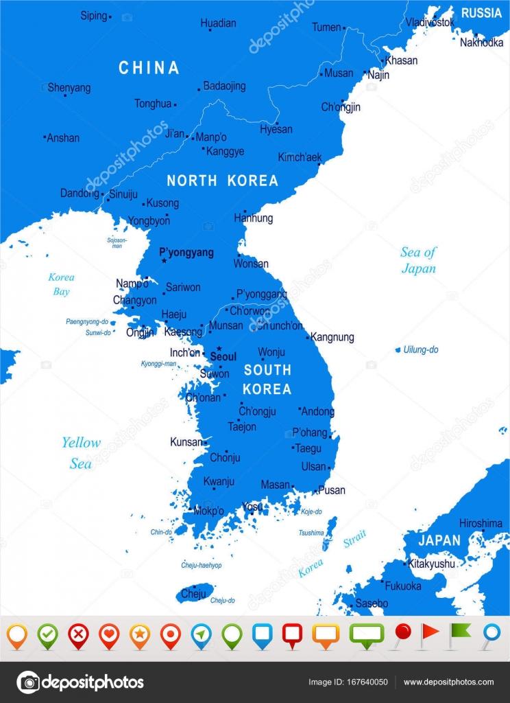 Korean peninsula map vector illustration stock vector korean peninsula map vector illustration stock vector gumiabroncs Images