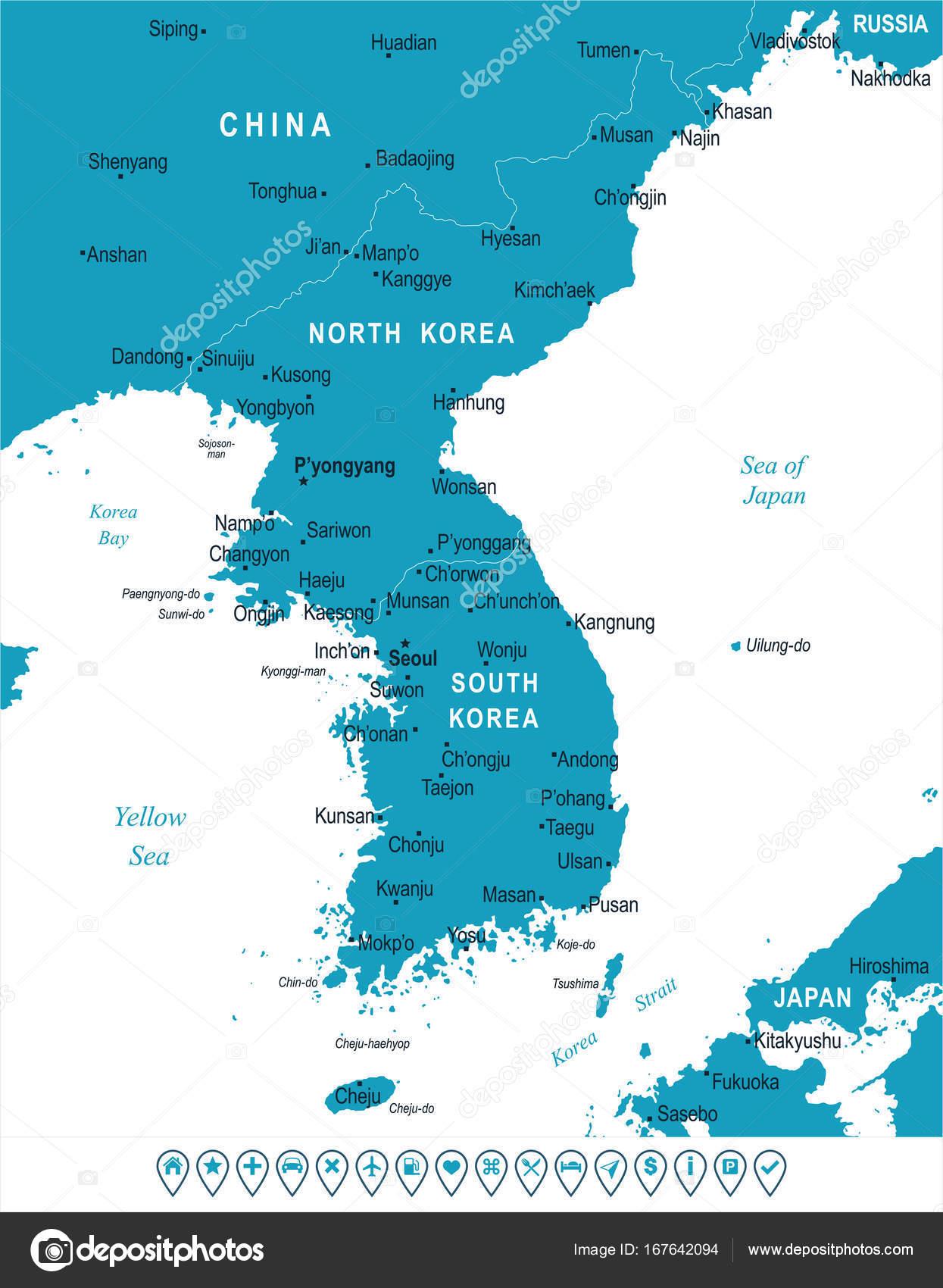 Korean peninsula map vector illustration stock vector korean peninsula map vector illustration stock vector gumiabroncs Gallery