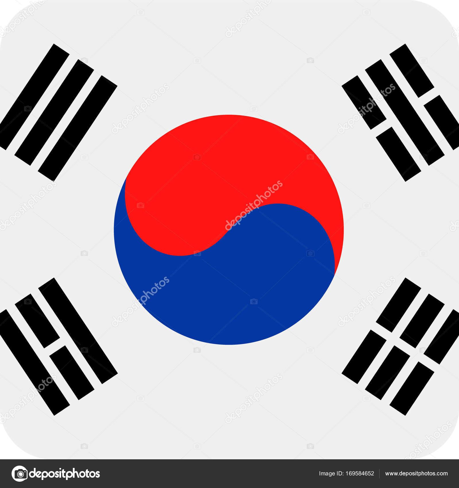 south korea flag vector square flat icon stock vector dikobrazik rh depositphotos com south korea flag vector download south korea flag vector free