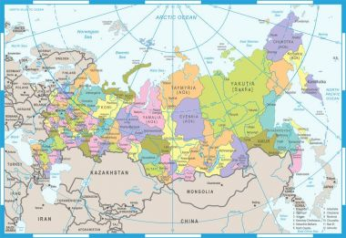 Russia Map - Vector Illustration