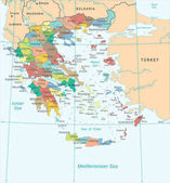 Greece Map - Detailed Vector Illustration