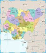 Nigeria Map - Detailed Vector Illustration