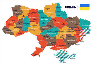 Ukraine - map and flag Detailed Vector Illustration