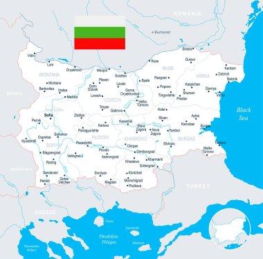 Bulgaria Map - detailed vector illustration