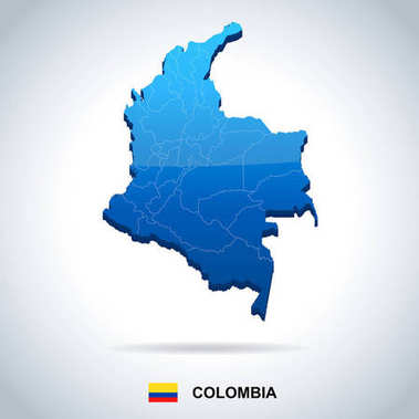 Colombia - map and flag - Detailed Vector Illustration