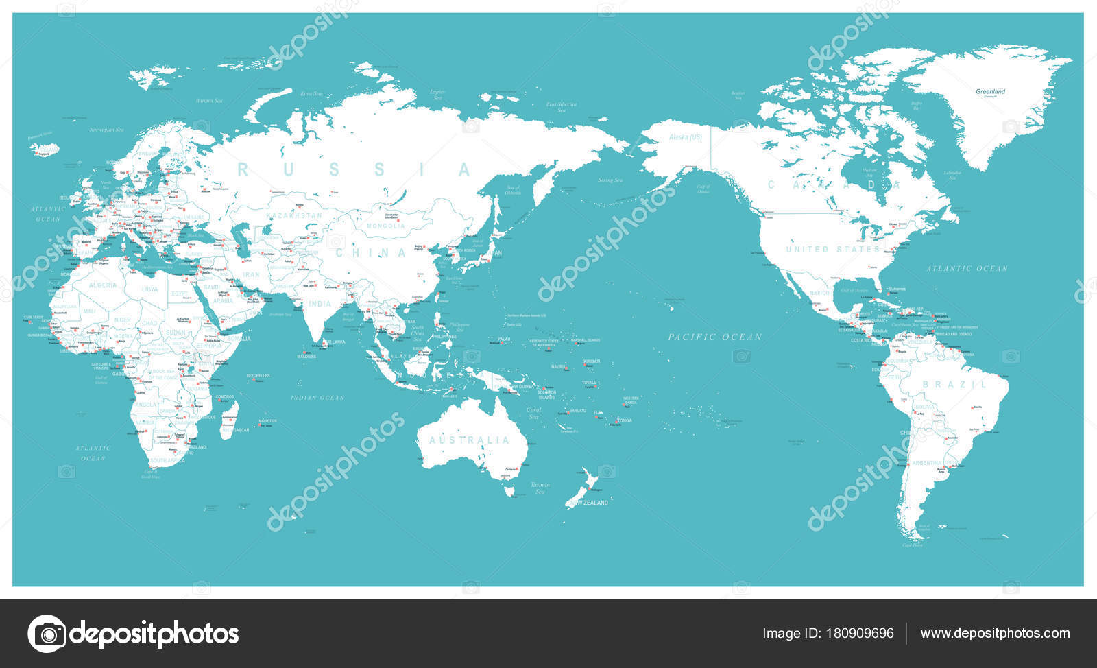 World map flat asia in center stock vector dikobrazik 180909696 world map flat asia in center stock vector gumiabroncs Images