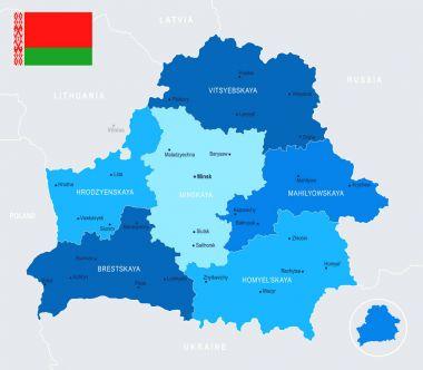Belarus Map - Info Graphic Vector Illustration