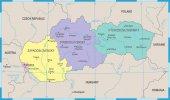 Fotografie Mapa Slovensko - podrobné vektorové ilustrace