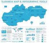 Fotografie Mapa Slovensko - Info grafické vektorové ilustrace
