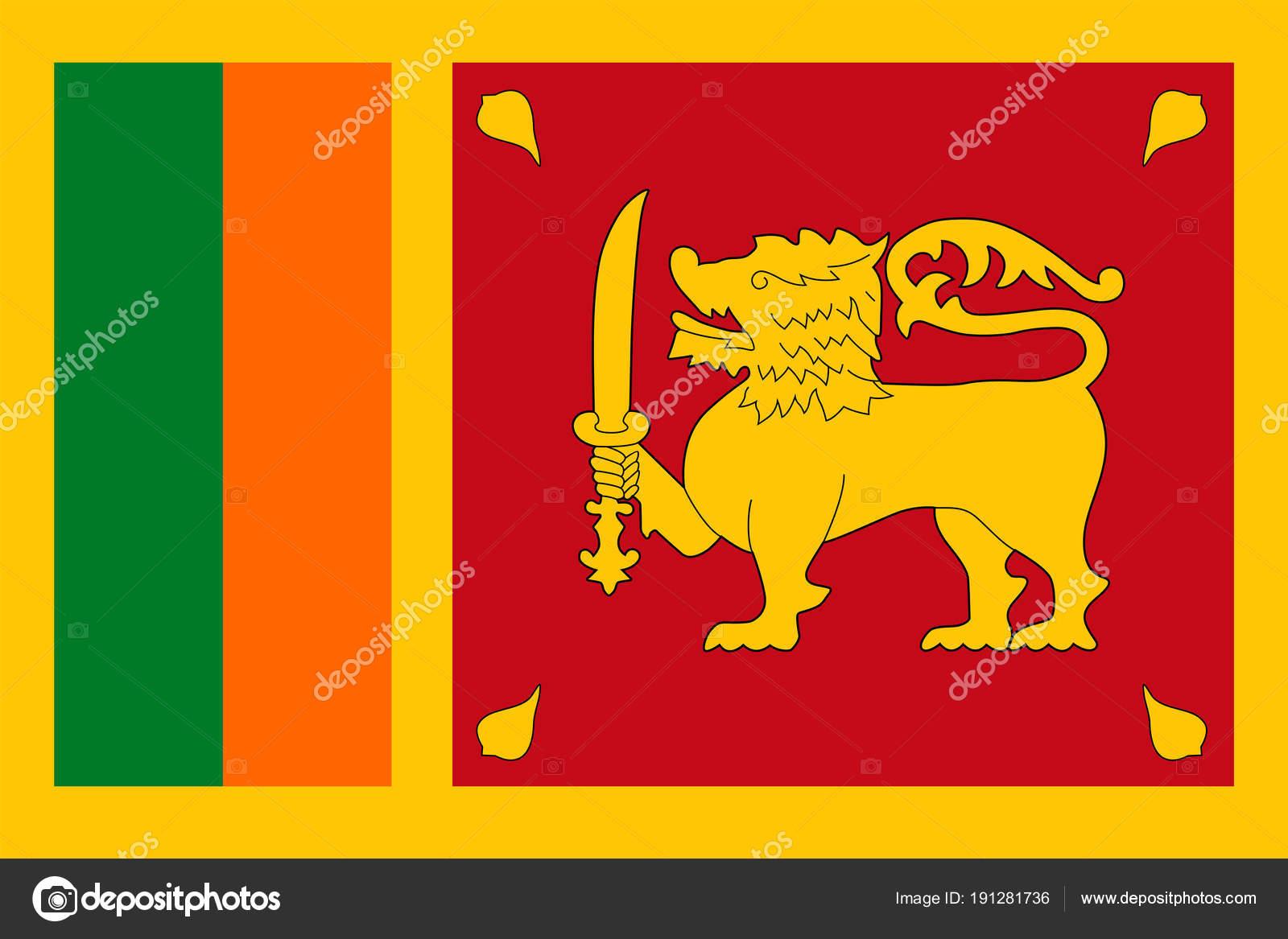 Sri Lanka bandera Vector icono plana — Archivo Imágenes Vectoriales ...