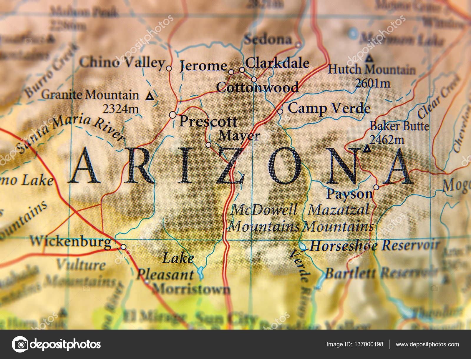 Geographic map of Arizona state close — Stock Photo ... on ohio map, missouri map, arizona economy map, arizona college team, az map, texas map, oklahoma map, colorado map, university of washington map, phoenix map, georgia map, arkansas map, tennessee map, utah map, florida map, arizona territory map, new mexico map, wisconsin map, tucson map, usa map,