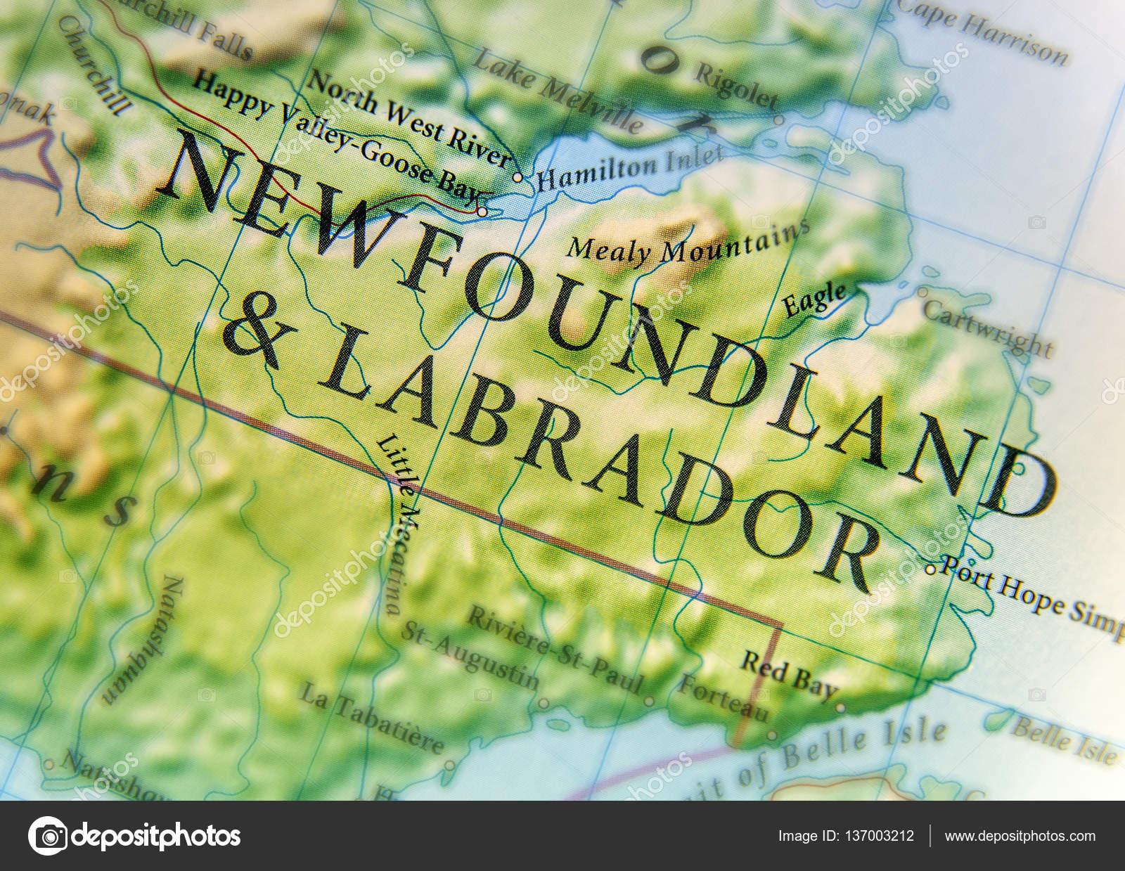 Cartina Geografica Del Paese Canada E Terranova E Labrador Wit