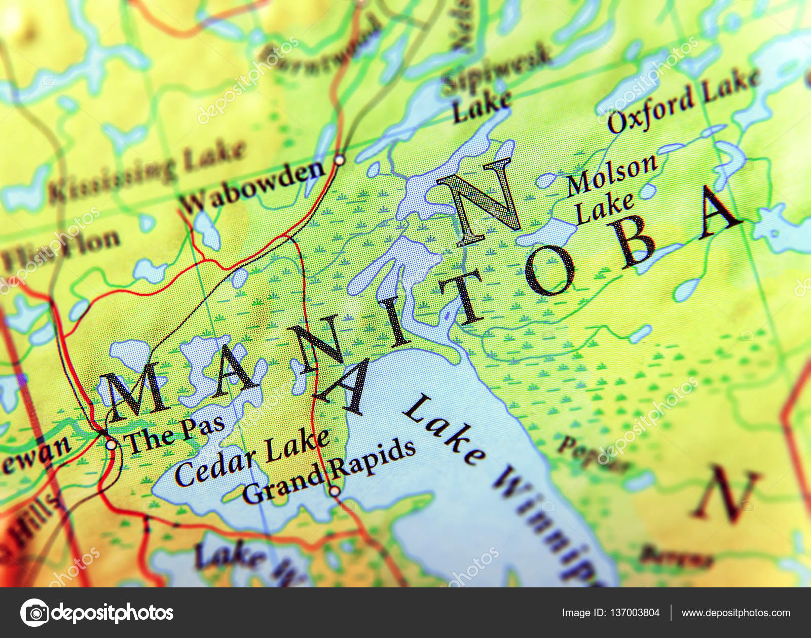 Carte Canada Manitoba.Geographic Map Of Canada State Manitoba With Important Cities