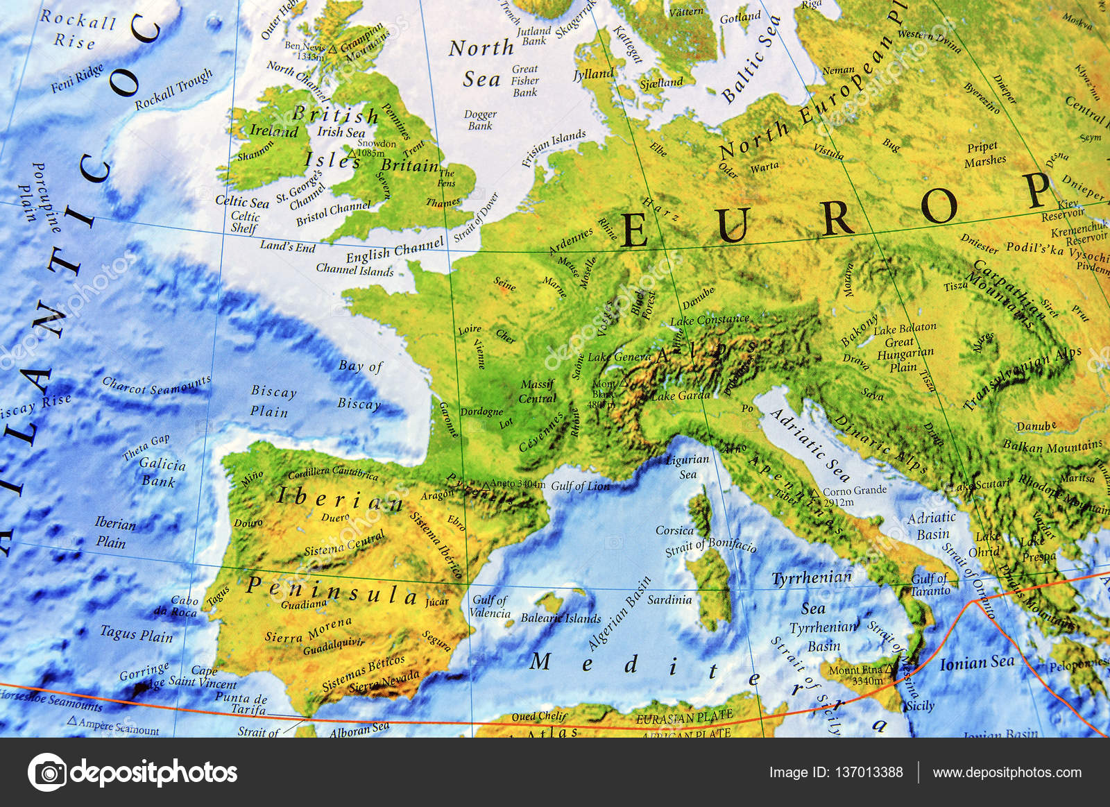 Cartina Europa Geografica.Cartina Geografica Dell Europa Nelle Vicinanze Foto Stock
