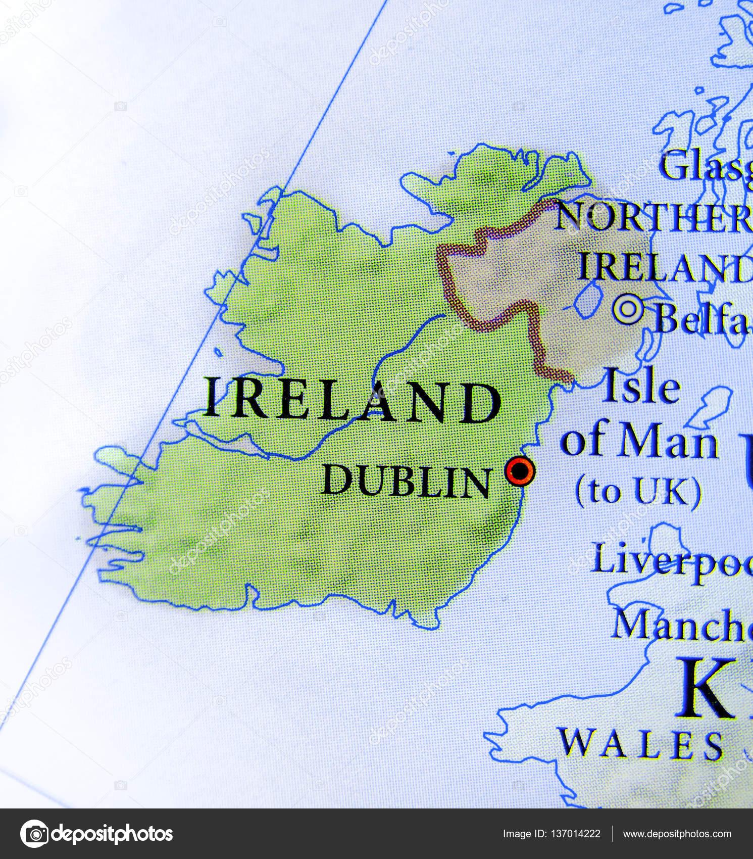 Irland Karte Städte.Geographische Karte Der Europäischen Land Irland Mit Wichtigen