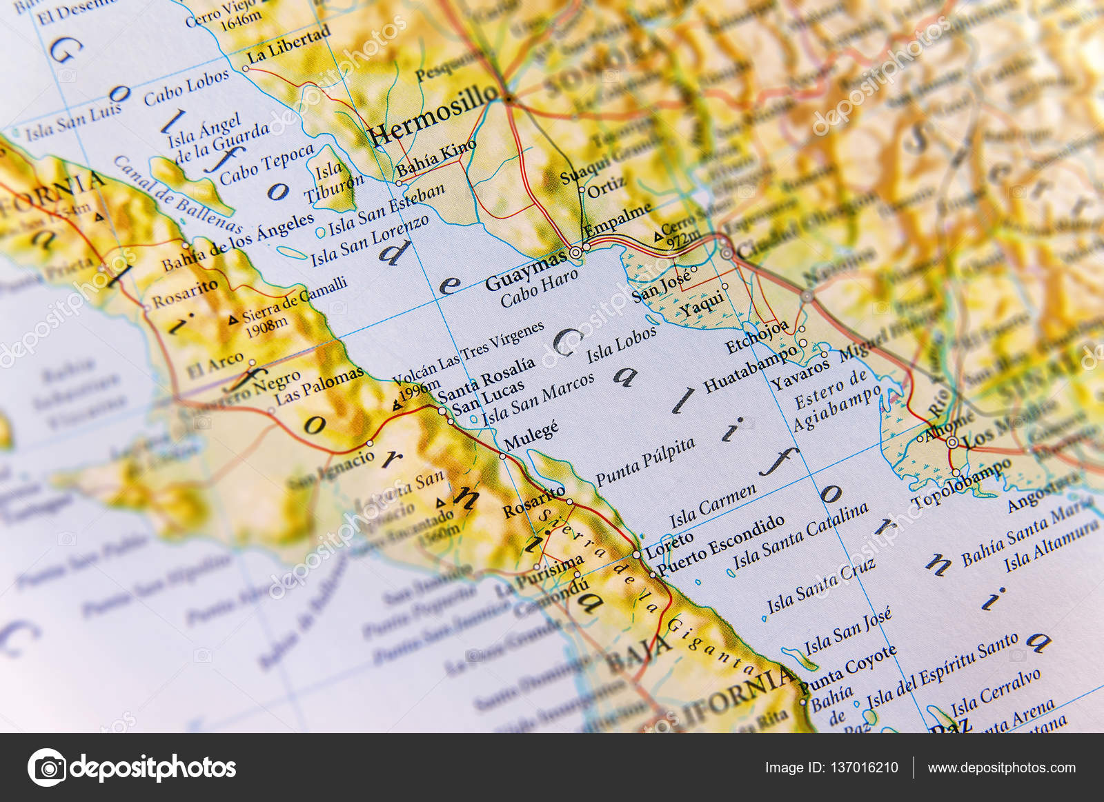 Geographic map of Golfo de California close — Stock Photo ... on koppen climate map california, entertainment map of california, show map of california, travel map of california, demographic map of california, gis map of california, transportation map of california, education map of california, large map of california, whole map of california, geopolitical map of california, draw a map of california, physical characteristics of california, the map of california, topographic map of california, artistic map of california, military map of california, counties of california, geologic map of california, racial map of california,