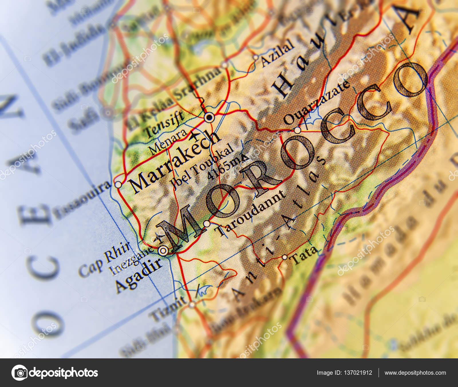 mapa geografico do marrocos Mapa geográfico do país de Marrocos cidades importantes  mapa geografico do marrocos