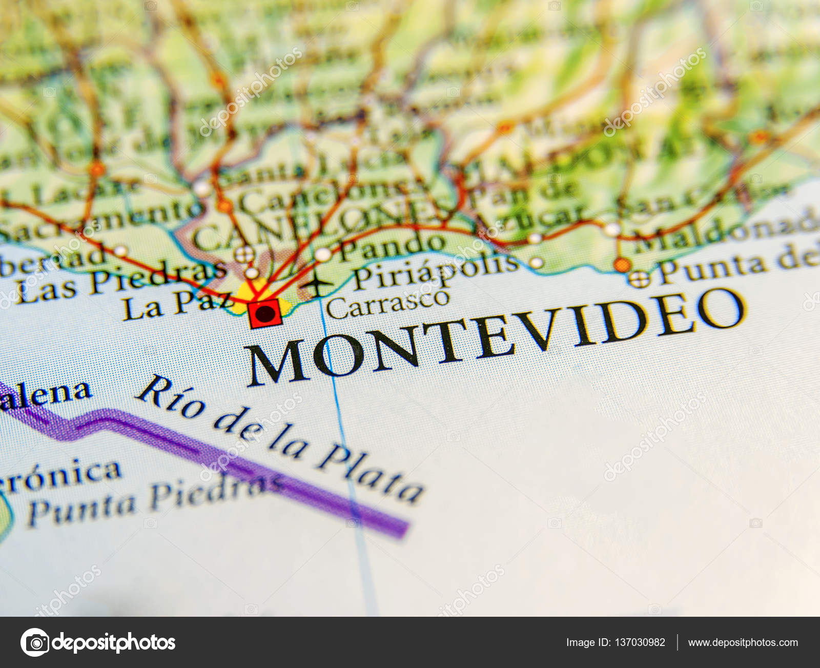 Image of: Geographic Map Of Uruguay With Capital Montevideo City Stock Photo C Bennian 137030982