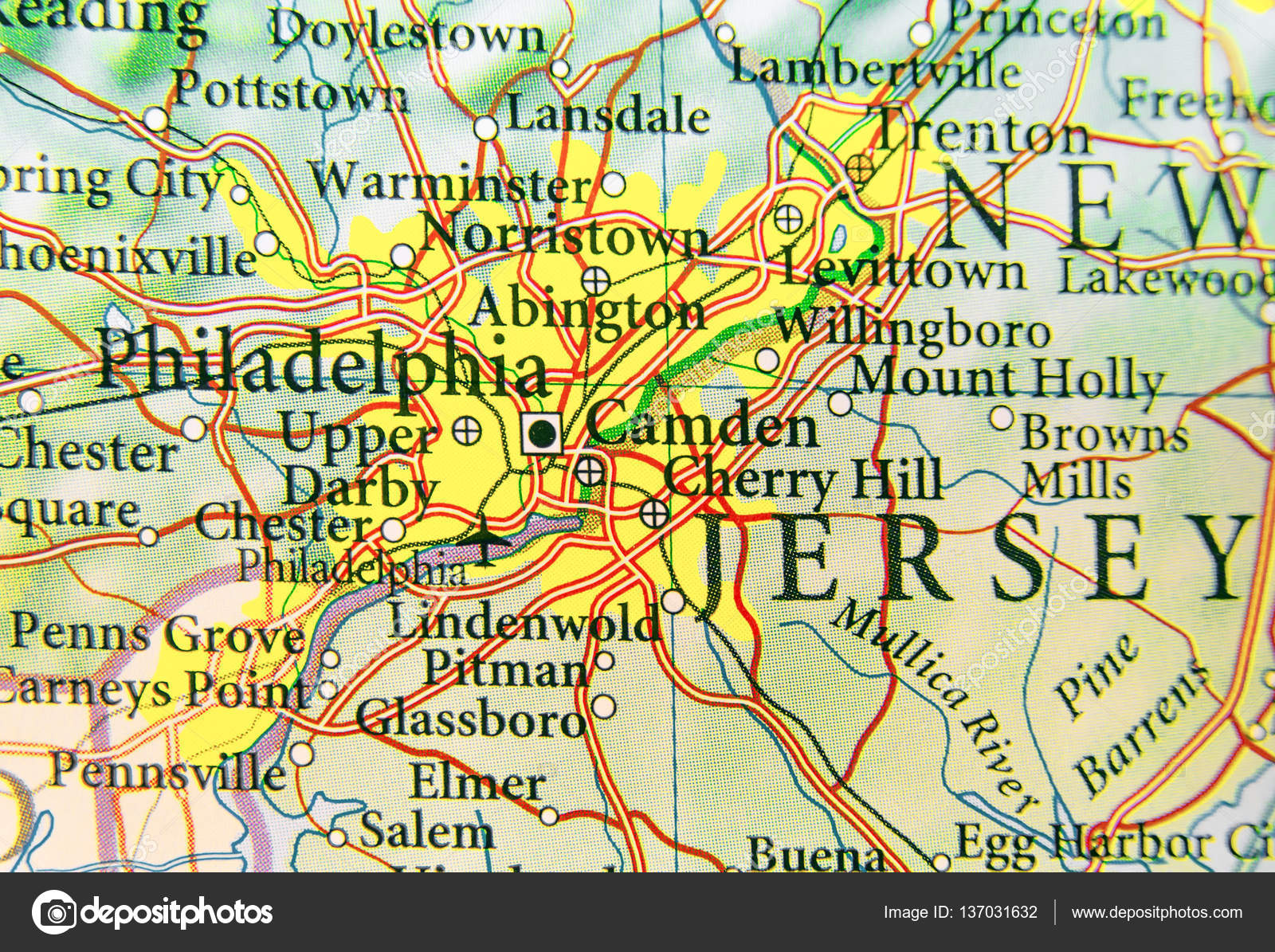Philadelphia Map Of Us.Geographic Map Of Us City Philadelphia And Other Important Citie