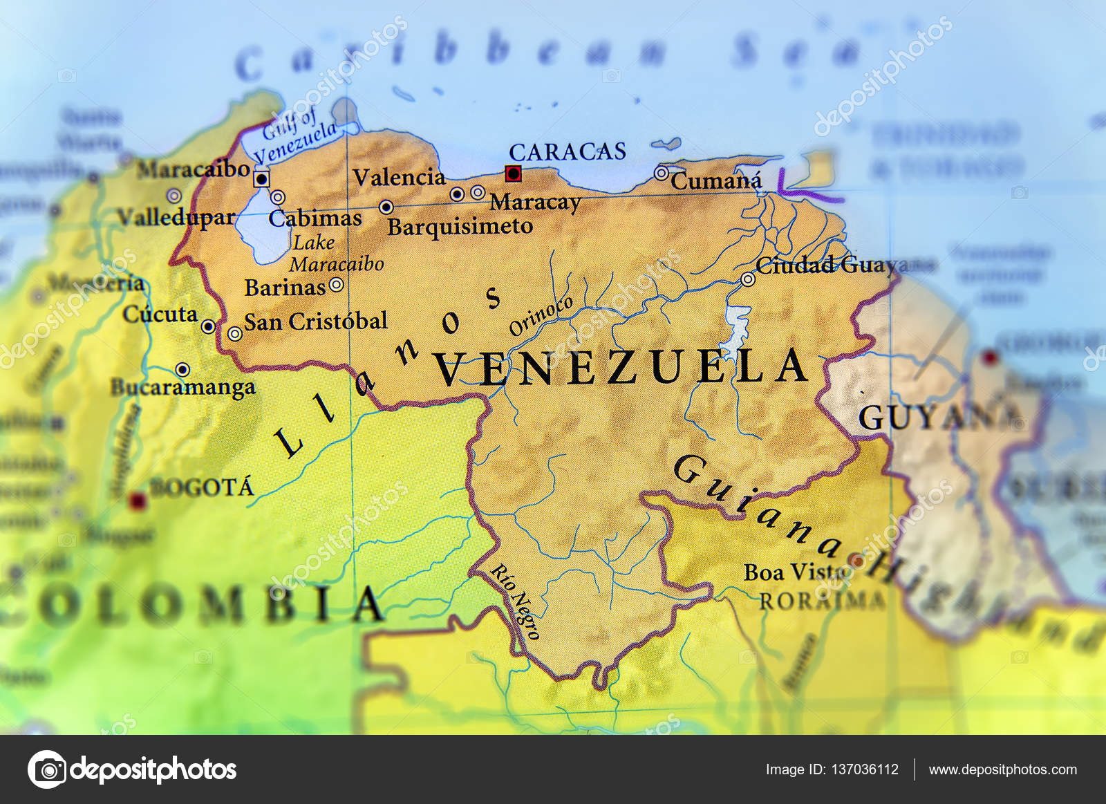 Geographic map of venezuela countries with important cities stock geographic map of venezuela countries with important cities stock photo gumiabroncs Gallery