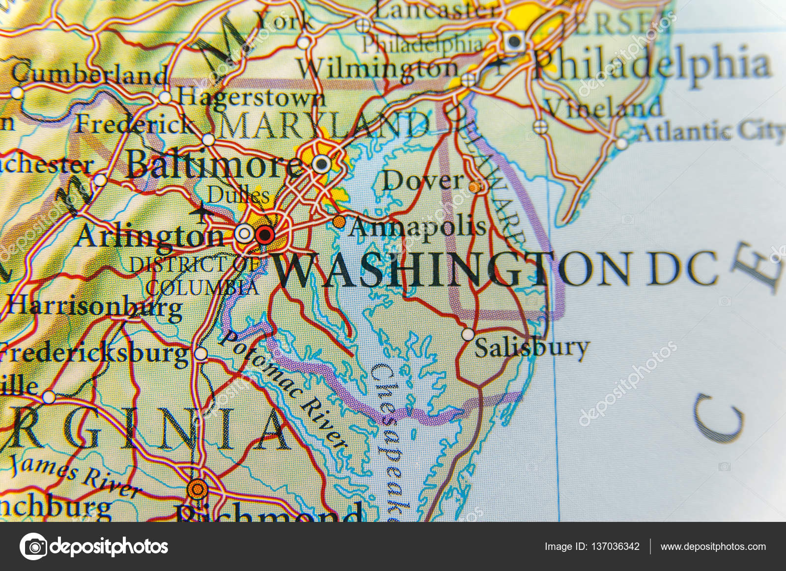 Washington Dc Map Download.Geographic Map Of Washington Dc Close Stock Photo C Bennian 137036342