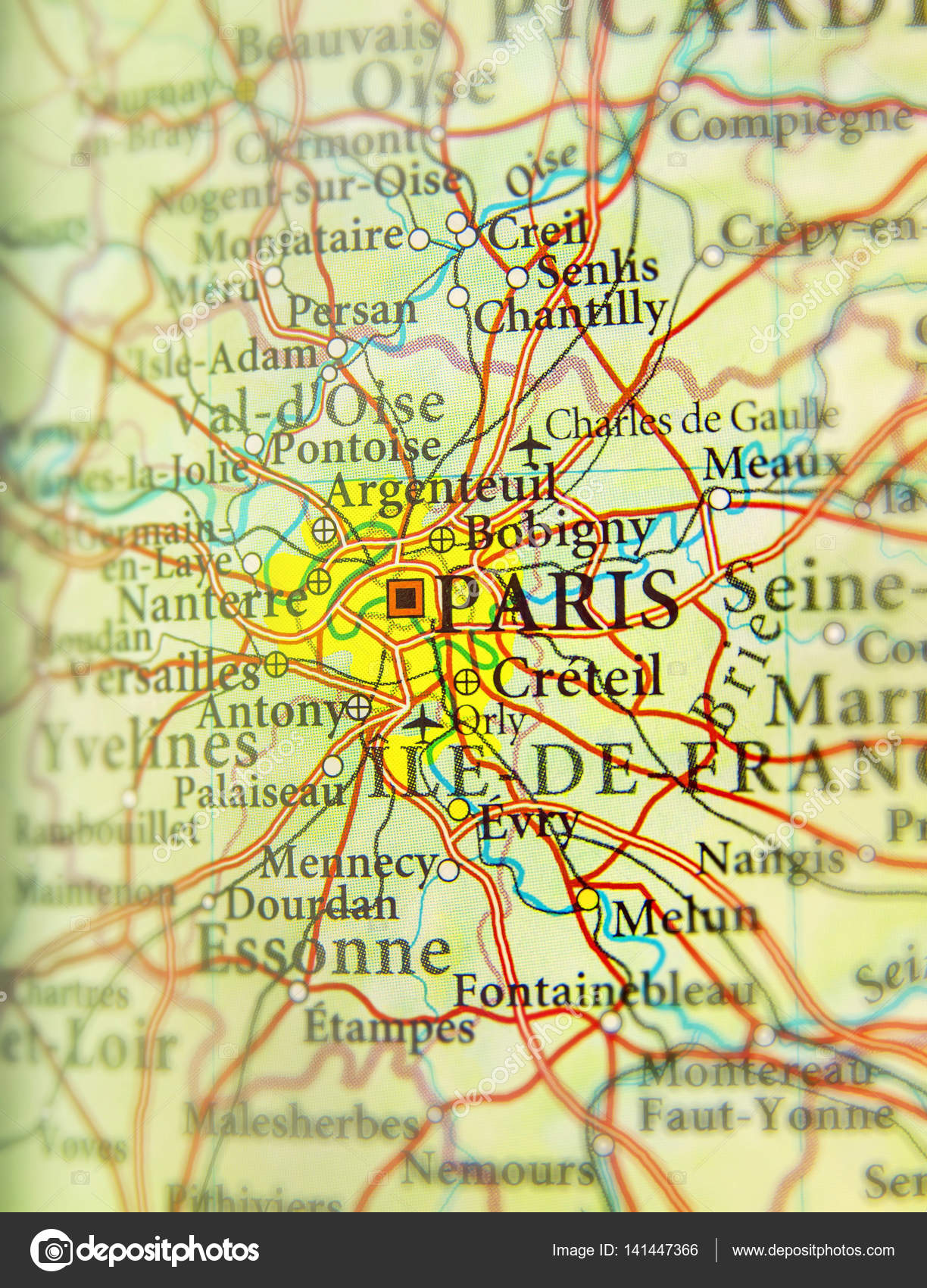 Picture of: Geographic Map Of European Country France With Paris Capital Cit Stock Photo C Bennian 141447366