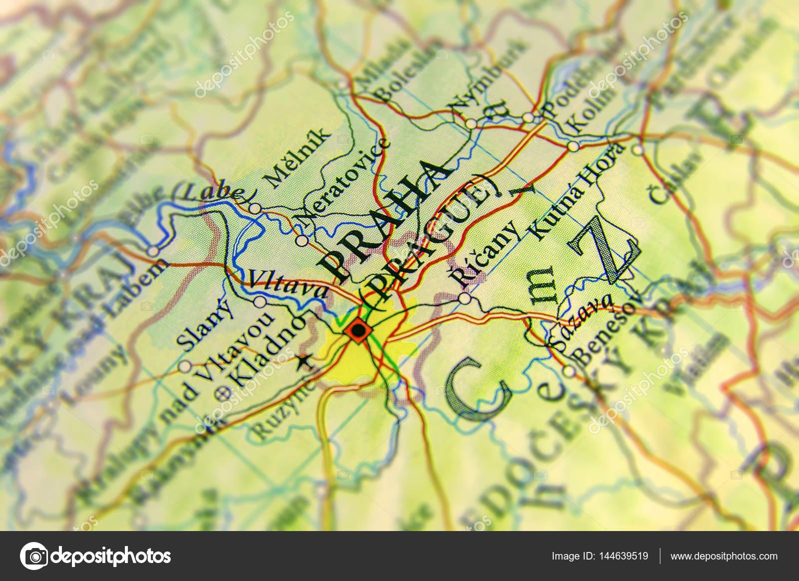 Prag Karte Tschechien.Geographische Karte Der Europäischen Land Tschechien Mit Prag Cit
