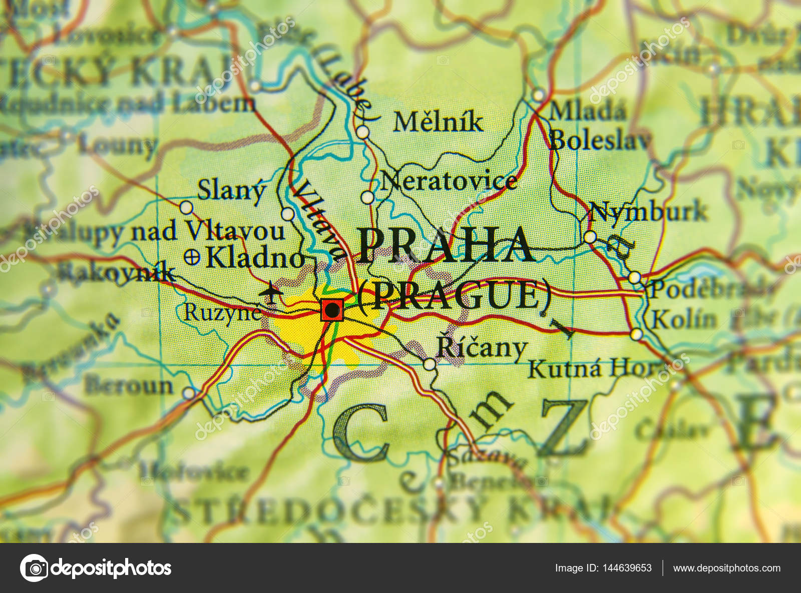 Prag Karte Europa.Geographische Karte Der Europäischen Land Tschechien Mit Prag Cit