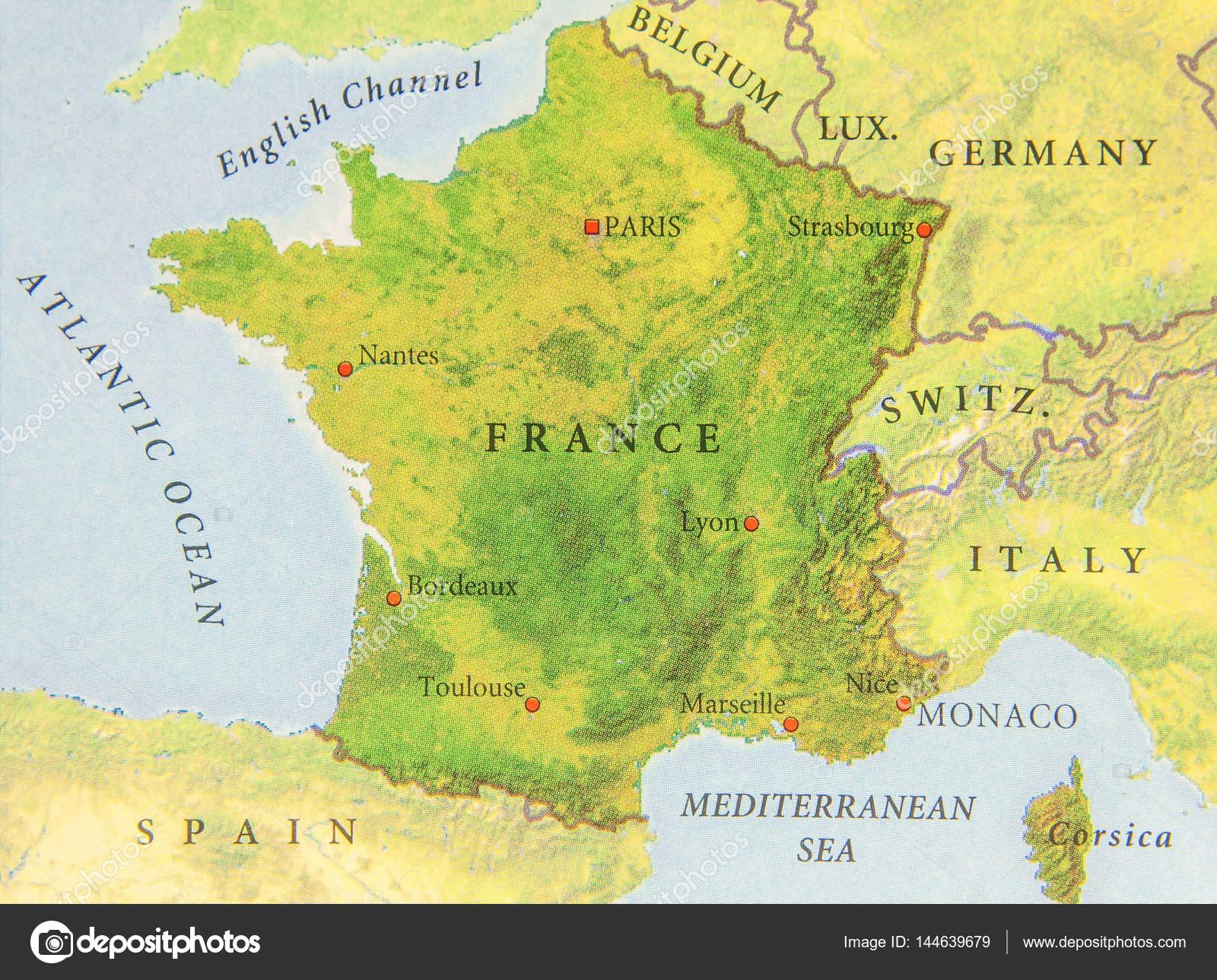Francia Cartina Geografica.Cartina Geografica Del Paese Europeo Francia Nelle Vicinanze