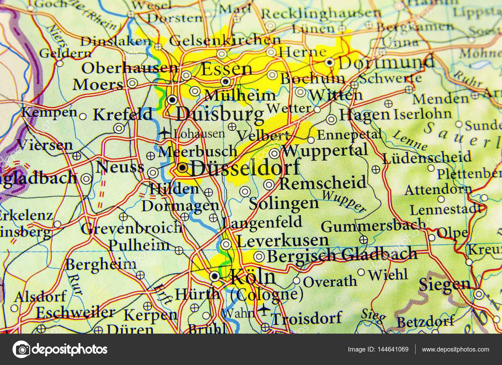Geographic map of European country Germany with important cities