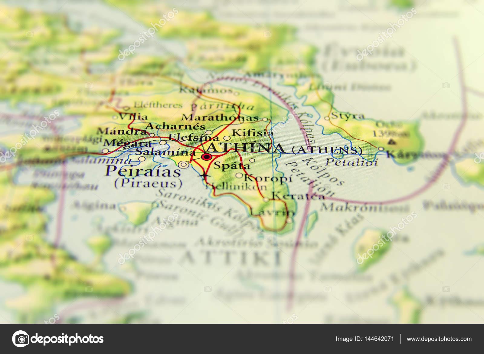 Karta Aten Grekland.Geografiska Karta Over Europeiskt Land Grekland Med Aten