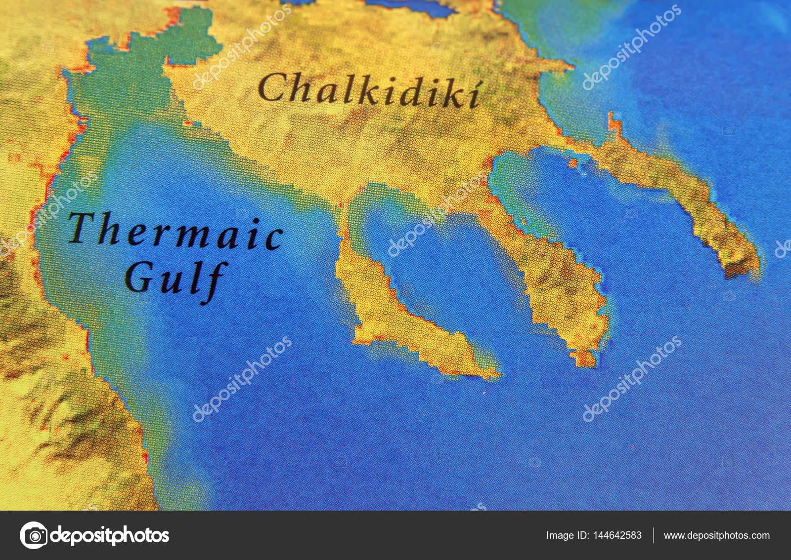 Geographic map of European country Greece with Chalkidiki — Stock ...