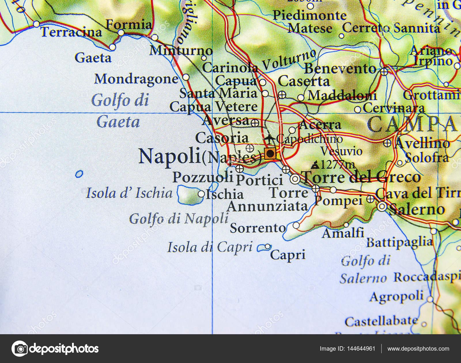 italien karta napoli Geografiska karta över europeiska land Italien med Napoli city  italien karta napoli
