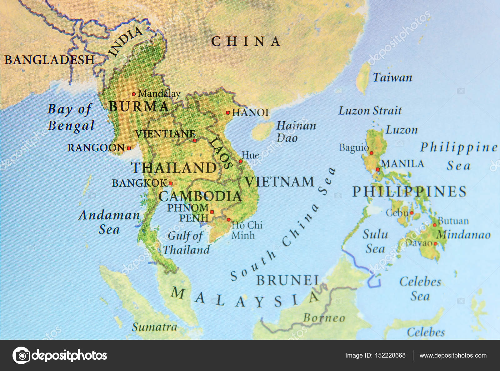 Carte Birmanie Thailande.Carte Geographique De La Birmanie Thailande Cambodge