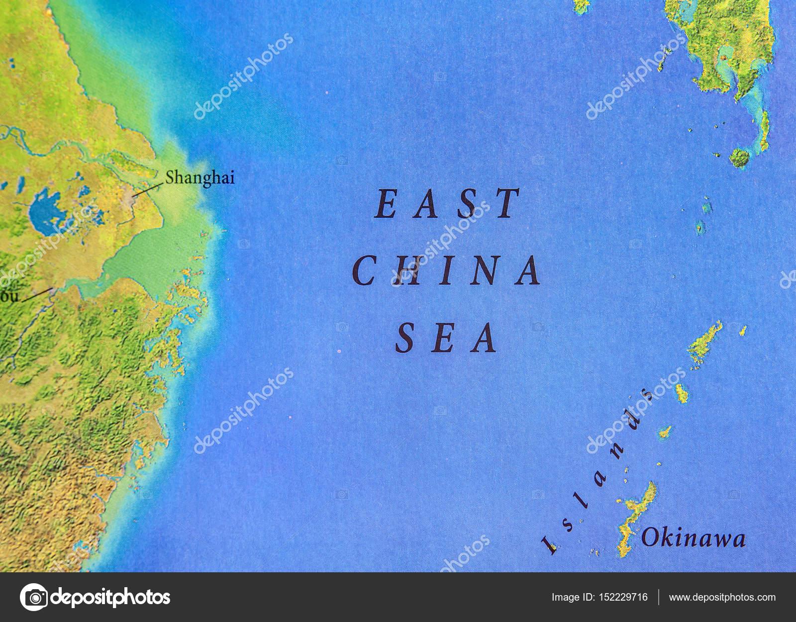 Landkarte der East China Sea — Stockfoto © Bennian #152229716