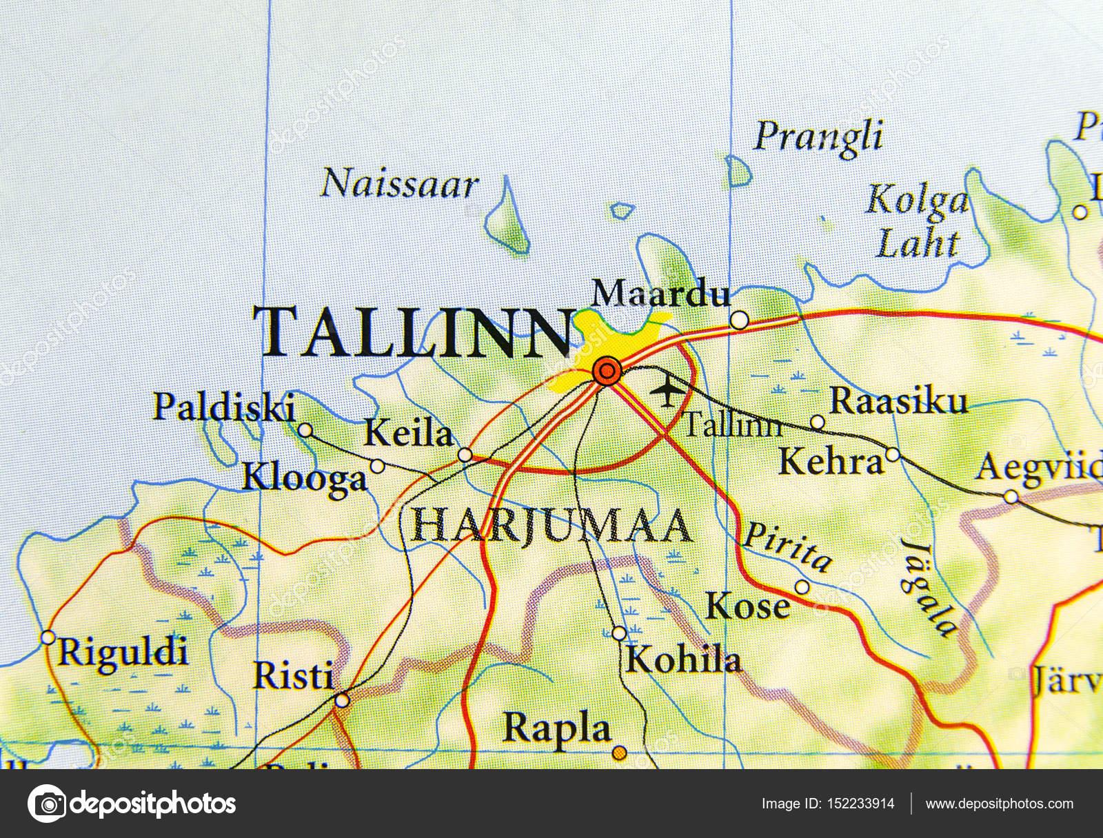 Carte Géographique Des Pays Deurope Estonie Avec Capitale