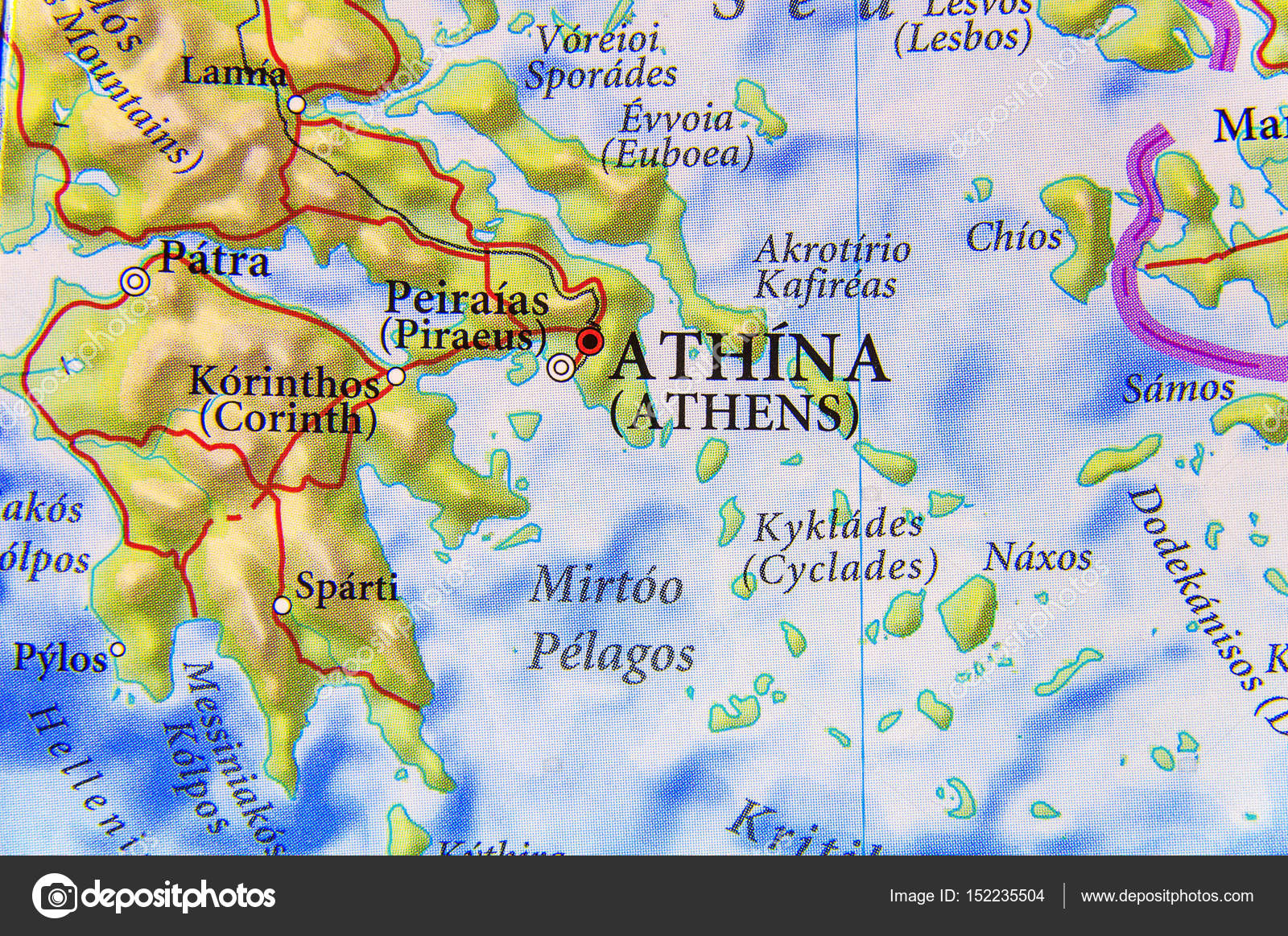 Picture of: Geographic Map Of European Country Greece City Athens Stock Photo C Bennian 152235504