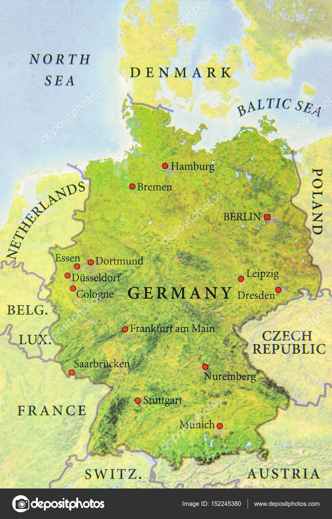geographische karte Geographische Karte der Europäischen Deutschland Landkarte