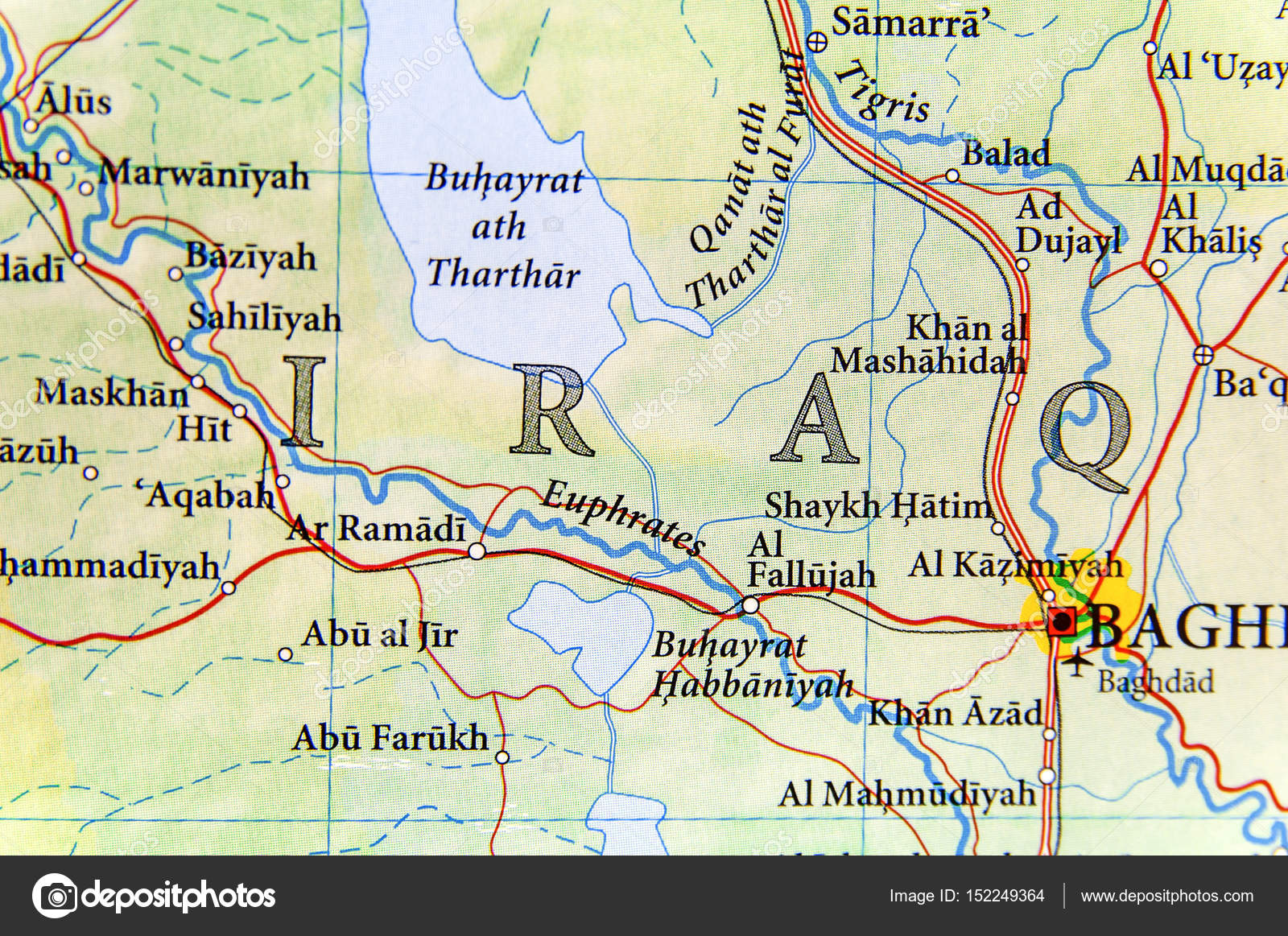 Geographic map of iraq with important cities stock photo geographic map of iraq with important cities stock photo gumiabroncs Image collections