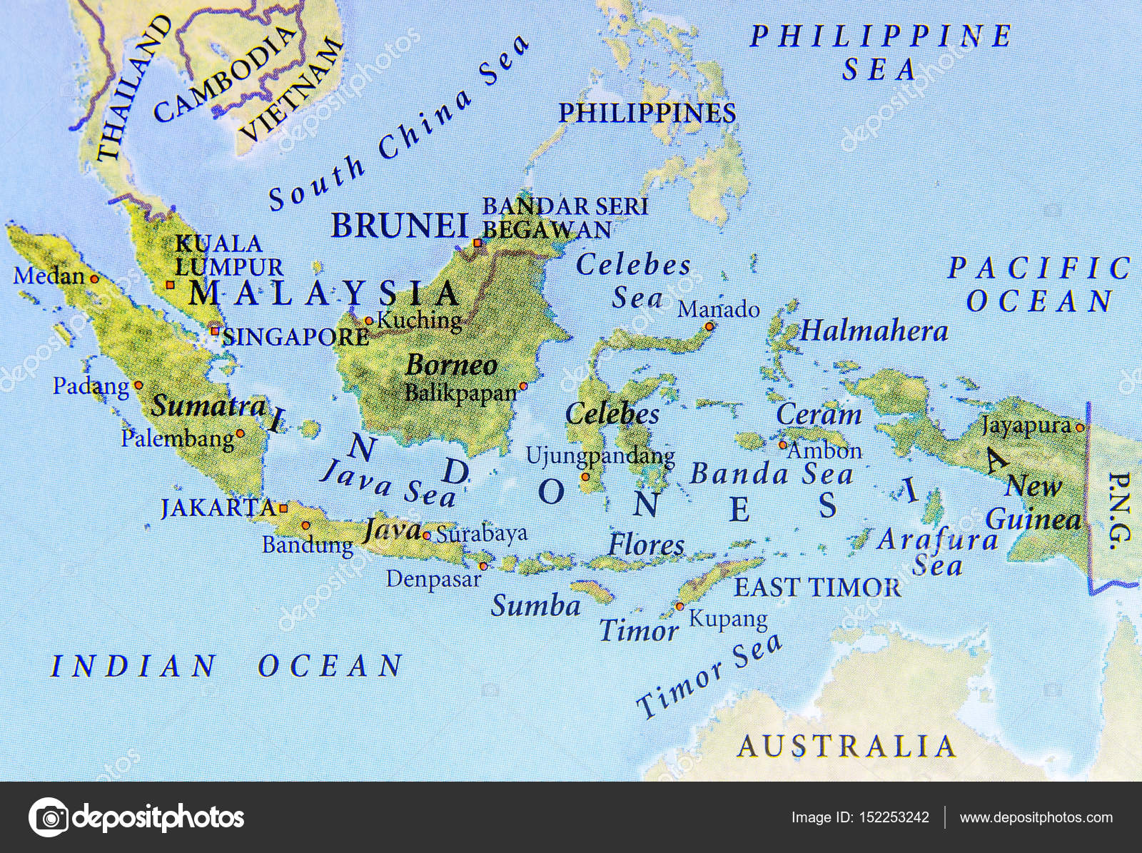 Geographic map of malaysia brunei and indonesia with important geographic map of malaysia brunei and indonesia with important stock photo gumiabroncs Gallery