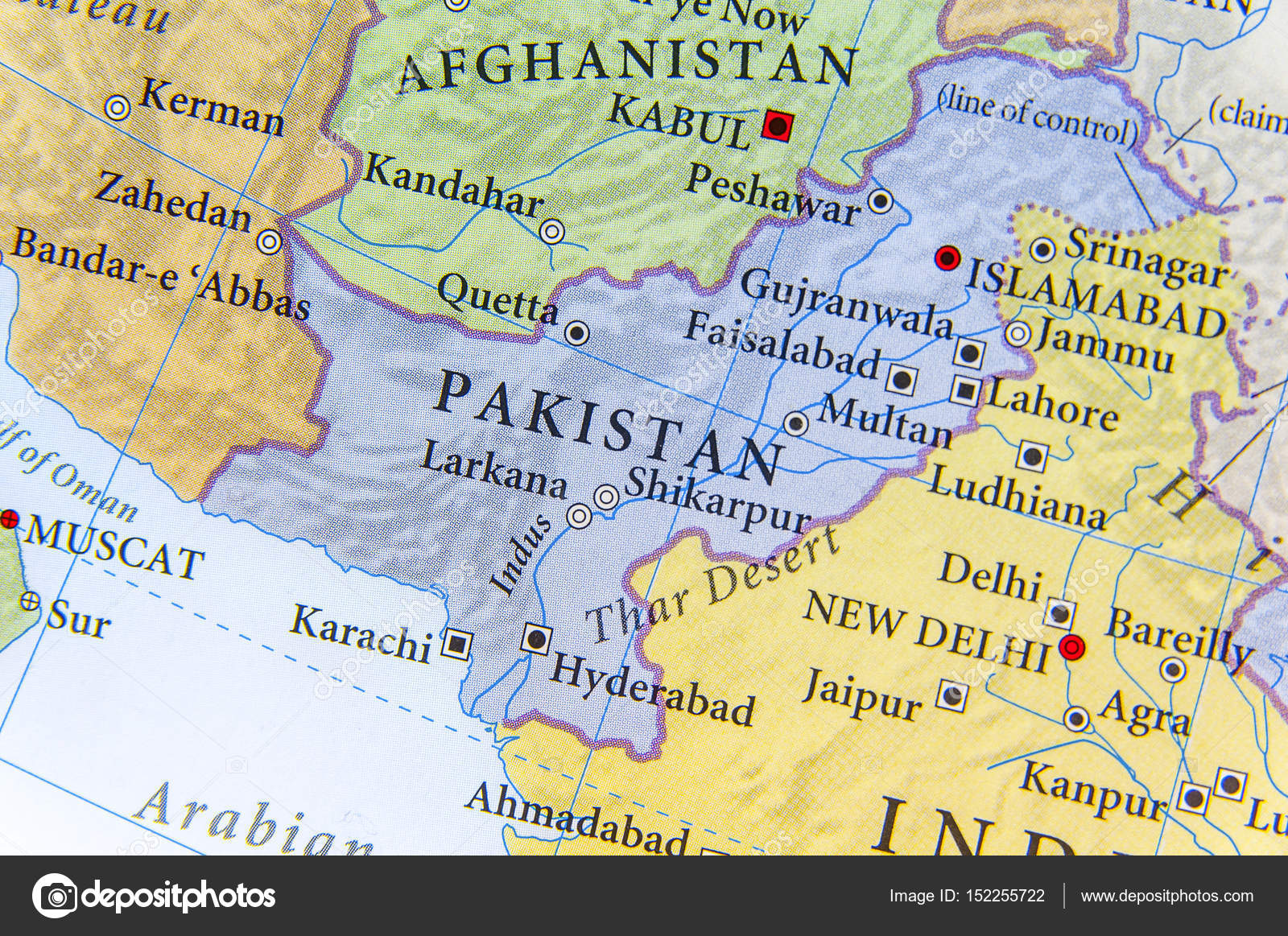 Cartina India Pakistan.Geographic Map Of Pakistan With Important Cities Stock Photo Image By C Bennian 152255722