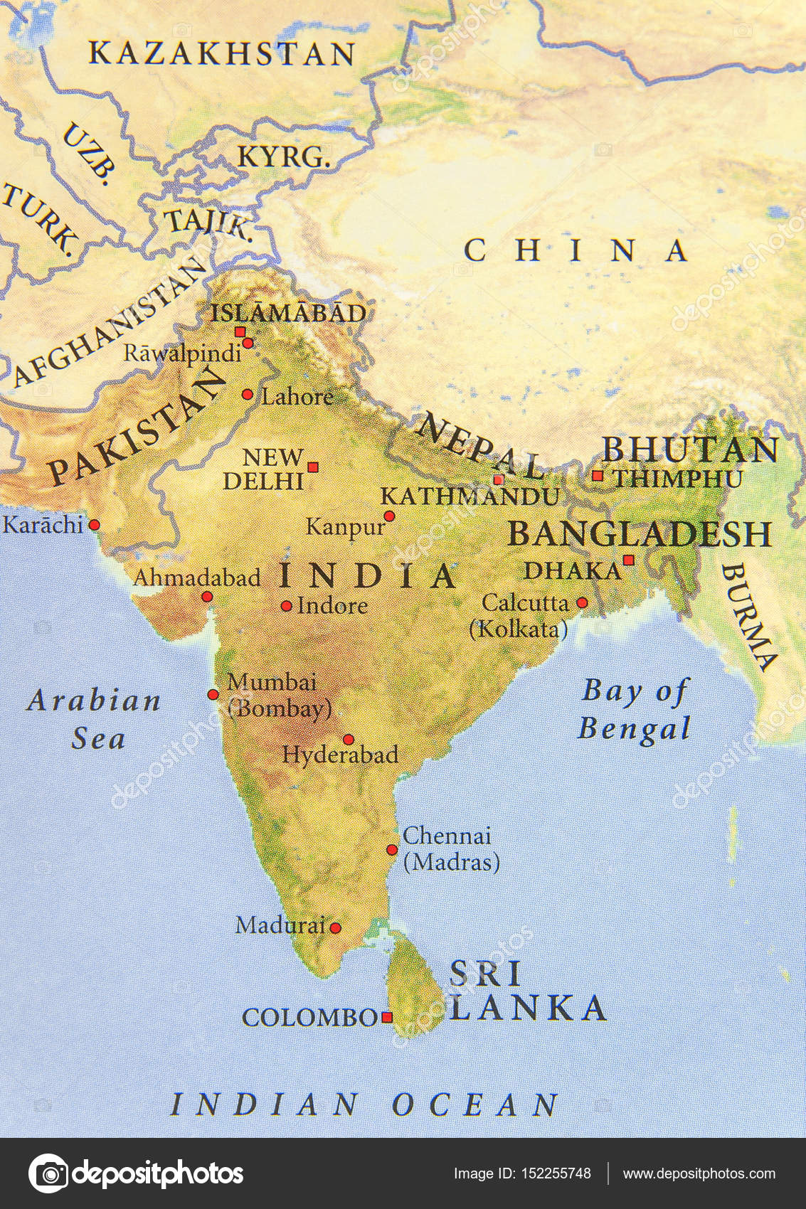 Cartina India In Italiano.Geographic Map Of Pakistan India Nepal Bangladesh And