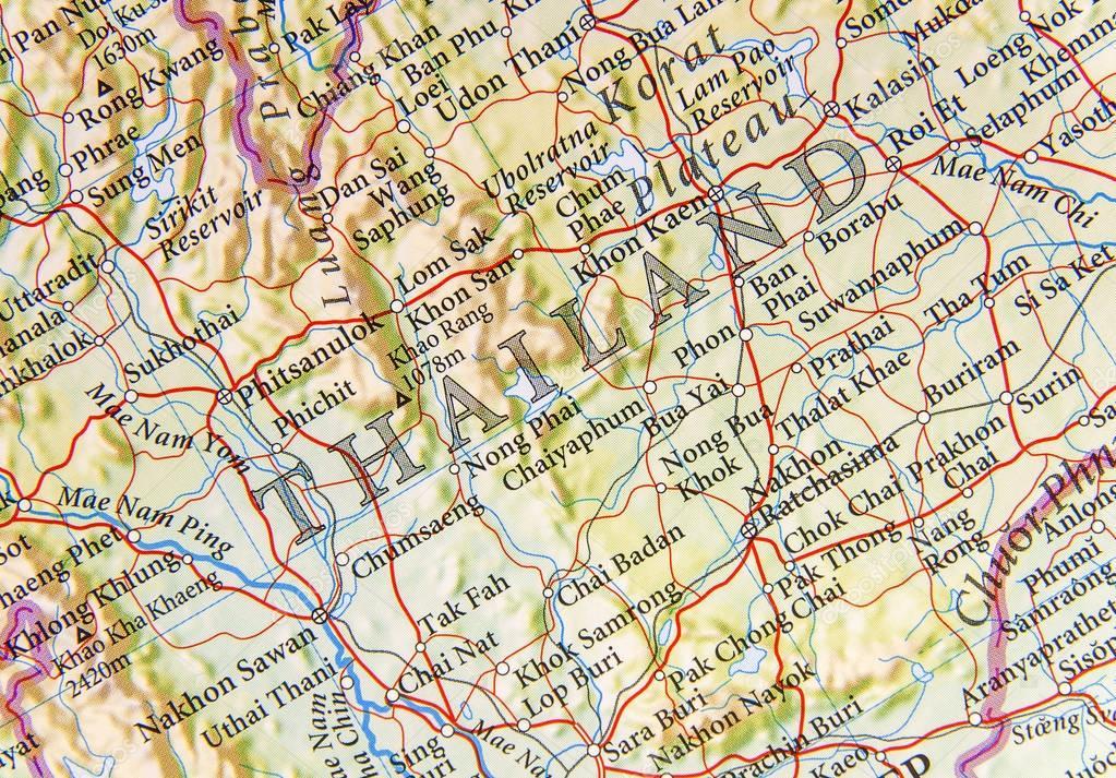 Thailandia Cartina Geografica.Cartina Geografica Della Thailandia Con Importanti Citta