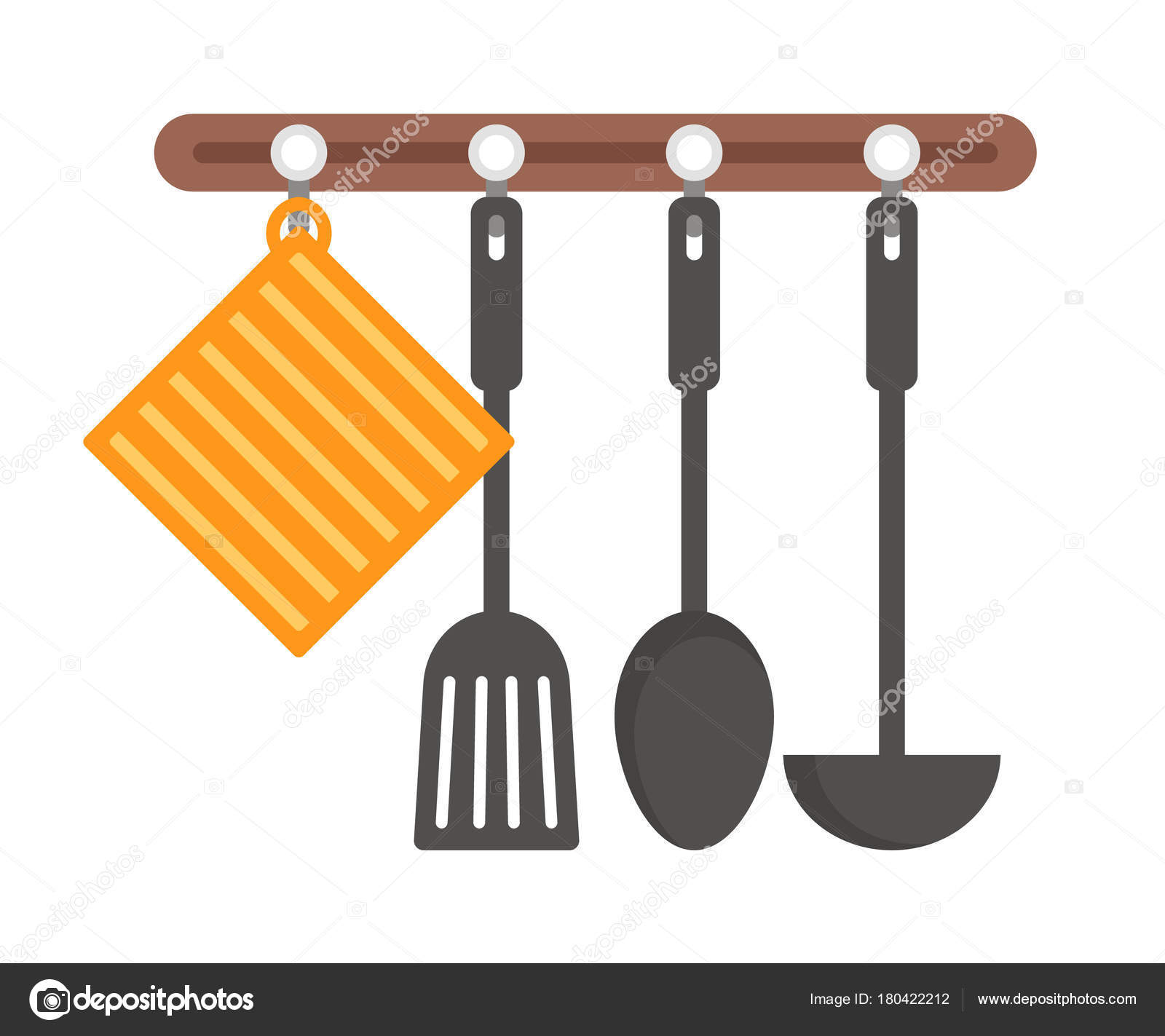 A Set Of Hanging Kitchen Utensils. Vector Illustration. U2014 Vector By Ksenica