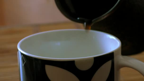 In cup of poured coffee