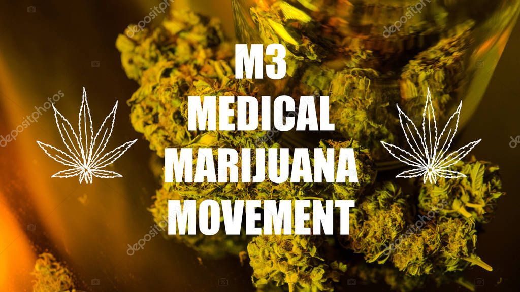 Medical marijuana movement concept. LEGALIZE FREEDOM