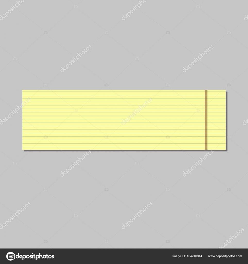 Hoja amarilla. líneas. para la oficina — Vector de stock © igoror ...