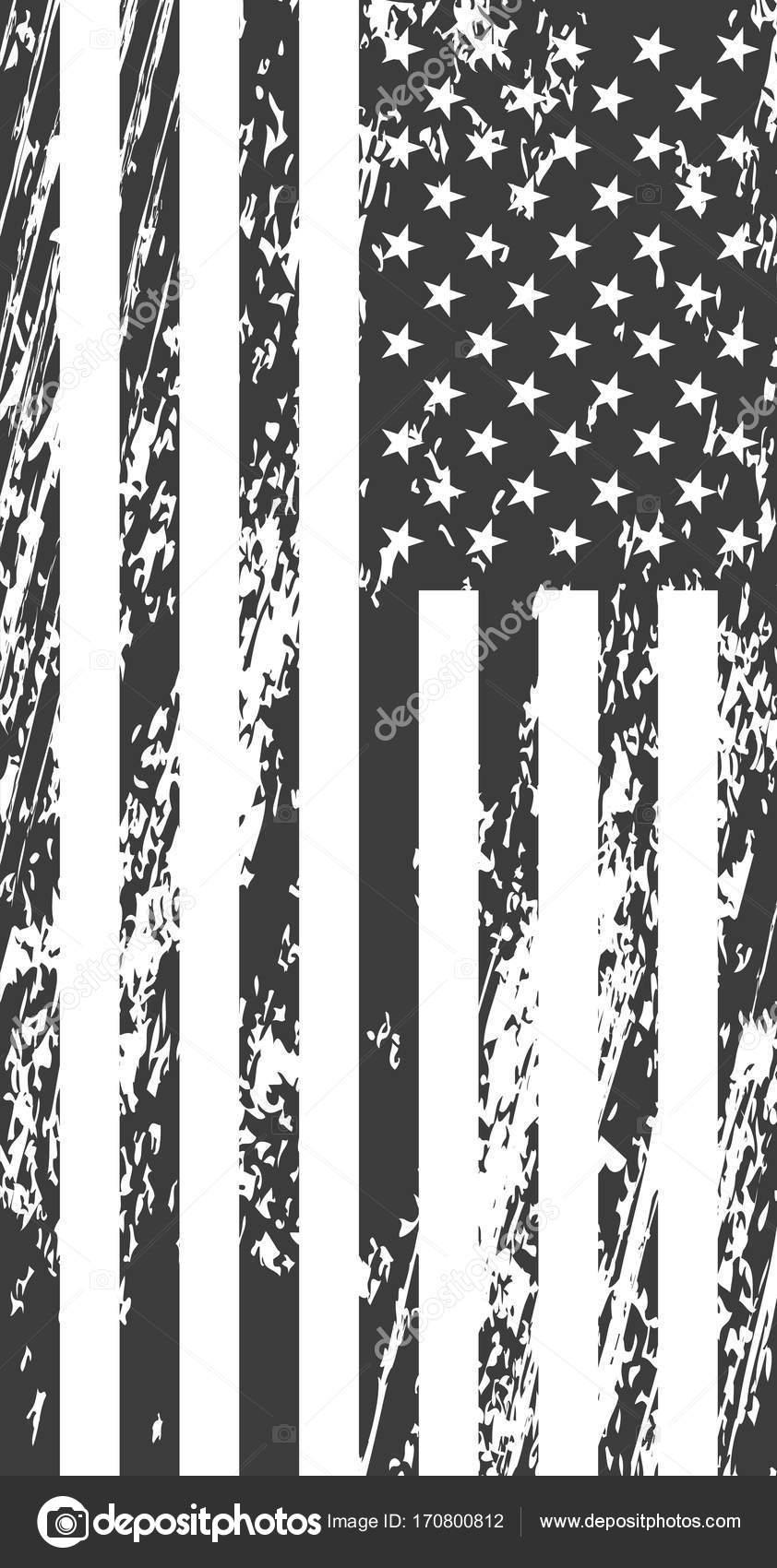 Grunge American Flag Vintage Background For Web Design Stock