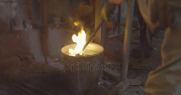 blacksmith on work